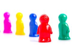 Group of toy people. Diversity and Teamwork - Colorful toy people group Stock Photography