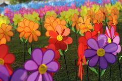 A group of toys flower windmill Stock Images