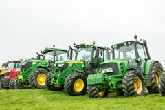 A group of tractors parked up Stock Photos
