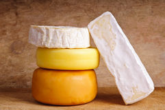 Group of traditional cheese Stock Photos