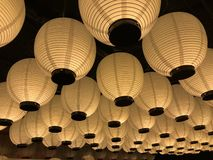 Traditional Japanese lamps royalty free stock photo