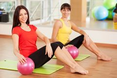 Group training in a fitness center royalty free stock photography