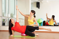 Group training in a fitness center Royalty Free Stock Photo