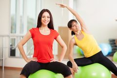 Group training in a fitness center Stock Photos