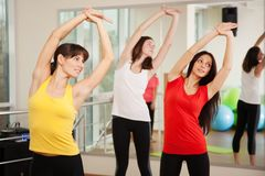 Group training in a fitness center Stock Images