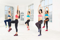 Group training in a gym of a fitness center Royalty Free Stock Photography