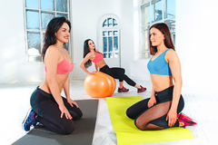 Group training in a gym of a fitness center Royalty Free Stock Image