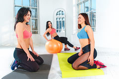 Group training in a gym of a fitness center Royalty Free Stock Photo