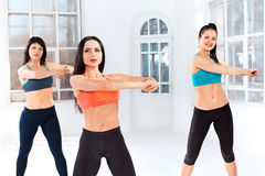Group training in a gym of a fitness center Stock Image