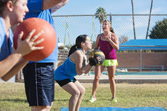 Group Training with Medicine Ball Royalty Free Stock Photo