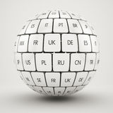 Group translation cubes in the sphere shape Stock Image