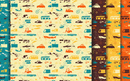 Group transport pattern set Royalty Free Stock Photo