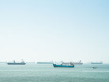 Group of transport ship Royalty Free Stock Images