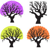 A group of trees. Vector set with a group of trees Stock Photo