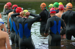 Group of triathletes Royalty Free Stock Photography