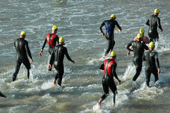 Group of triathletes Royalty Free Stock Photos
