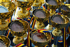 Group of trophies Royalty Free Stock Photography