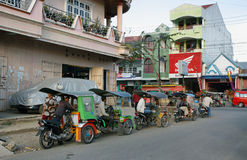 Group of tuk tuk and drivers waiting  for clients Stock Images