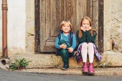 Portrait little kids royalty free stock photography