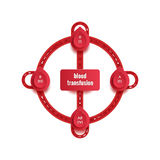 Group and type infographic for world blood donor day, 14 June. Medical poster Stock Photography