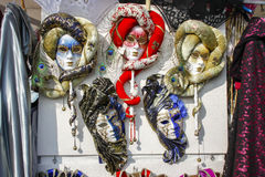 Group of typical venetian carnival masks Stock Images