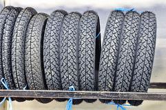 Group of tyres Stock Photos