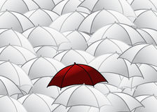 Group of umbrellas Royalty Free Stock Photography