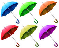 A group of umbrellas Stock Image