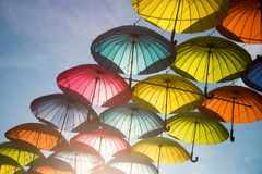 Group of umbrellas stock image