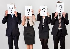 Group of unidentifiable business people Royalty Free Stock Photo