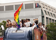 Group unidentified participants during Gay pride parade Royalty Free Stock Photography