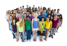 Group of united students. Group of multi-ethnic students royalty free stock photography