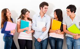 Group of university friends Royalty Free Stock Image