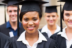 Group university graduates Royalty Free Stock Image