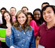 Group of university students Stock Images