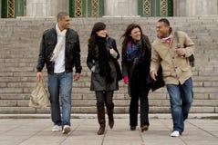 Group of university students stock image