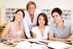 Group of university students Stock Photo