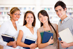 Group of university students Royalty Free Stock Photos
