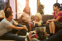 Group Of University Students Relaxing In Common Room Royalty Free Stock Photo