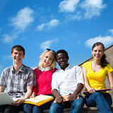 Group of university students studying Royalty Free Stock Photography