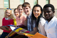Group of university students studying Stock Images