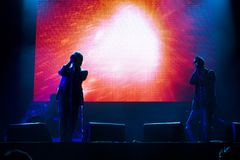 Group UNKLE live performs onstage stock photo