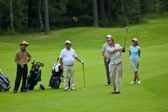 Group unknown golfer Stock Images