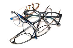 Group of unused old eyeglasses Royalty Free Stock Images