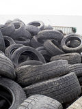 Group of used tyres  recycling Royalty Free Stock Photos