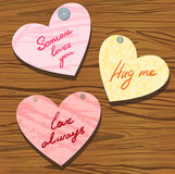 Group of valentine with wishes Stock Photos