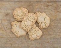 Group of vanilla animal cookies Stock Photos