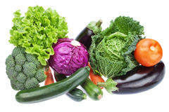 Group variety of vegetables to supply useful for health. Stock Image