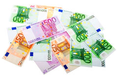 Group of Various Euro Banknotes Royalty Free Stock Image