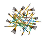 A Group of Various Size of Artist Brushes Stock Photo